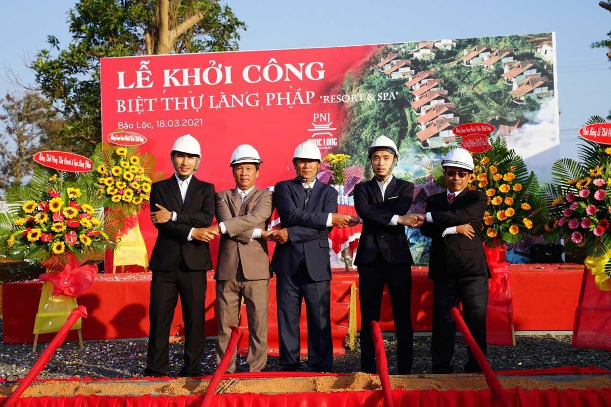 Khoi cong Biet thu Lang Phap Bao Loc Resort Spa - Biệt Thự Làng Pháp Bảo Lộc Resort & Spa