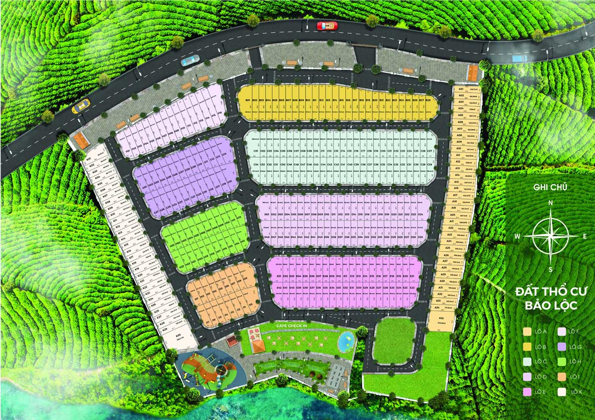 Mat bang Biet thu Lang Phap Bao Loc Resort Spa - Biệt Thự Làng Pháp Bảo Lộc Resort & Spa