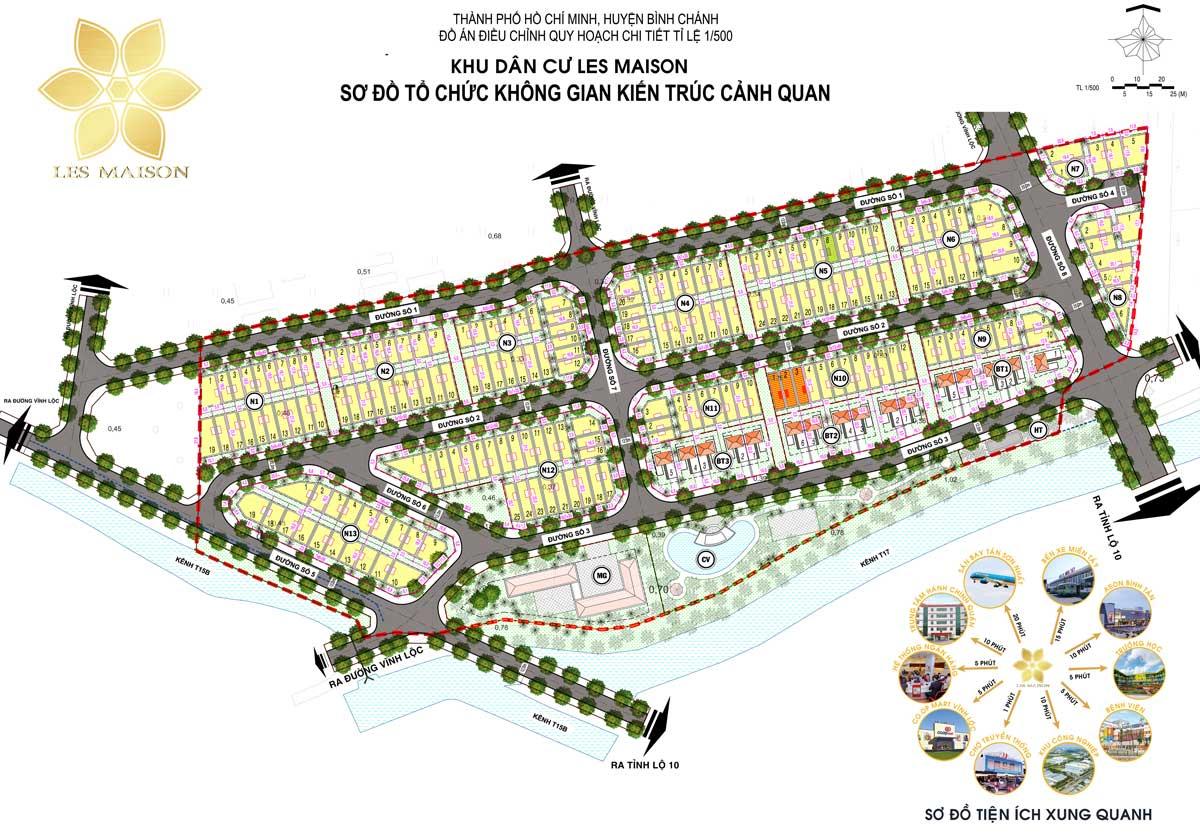 Mat bang phan lo Du an KDC Les Maison Binh Chanh - Mặt-bằng-phân-lô-Dự-án-KDC-Les-Maison-Bình-Chánh