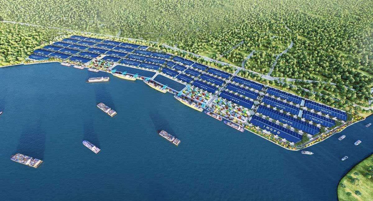 Phối cảnh KCN Cầu cảng Phước Đông