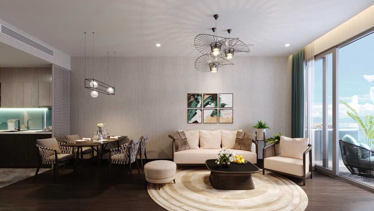 Phong khach Can 2 Phong ngu 84 m2 Edna Grand Mercure - EDNA GRAND MERCURE PHAN THIẾT