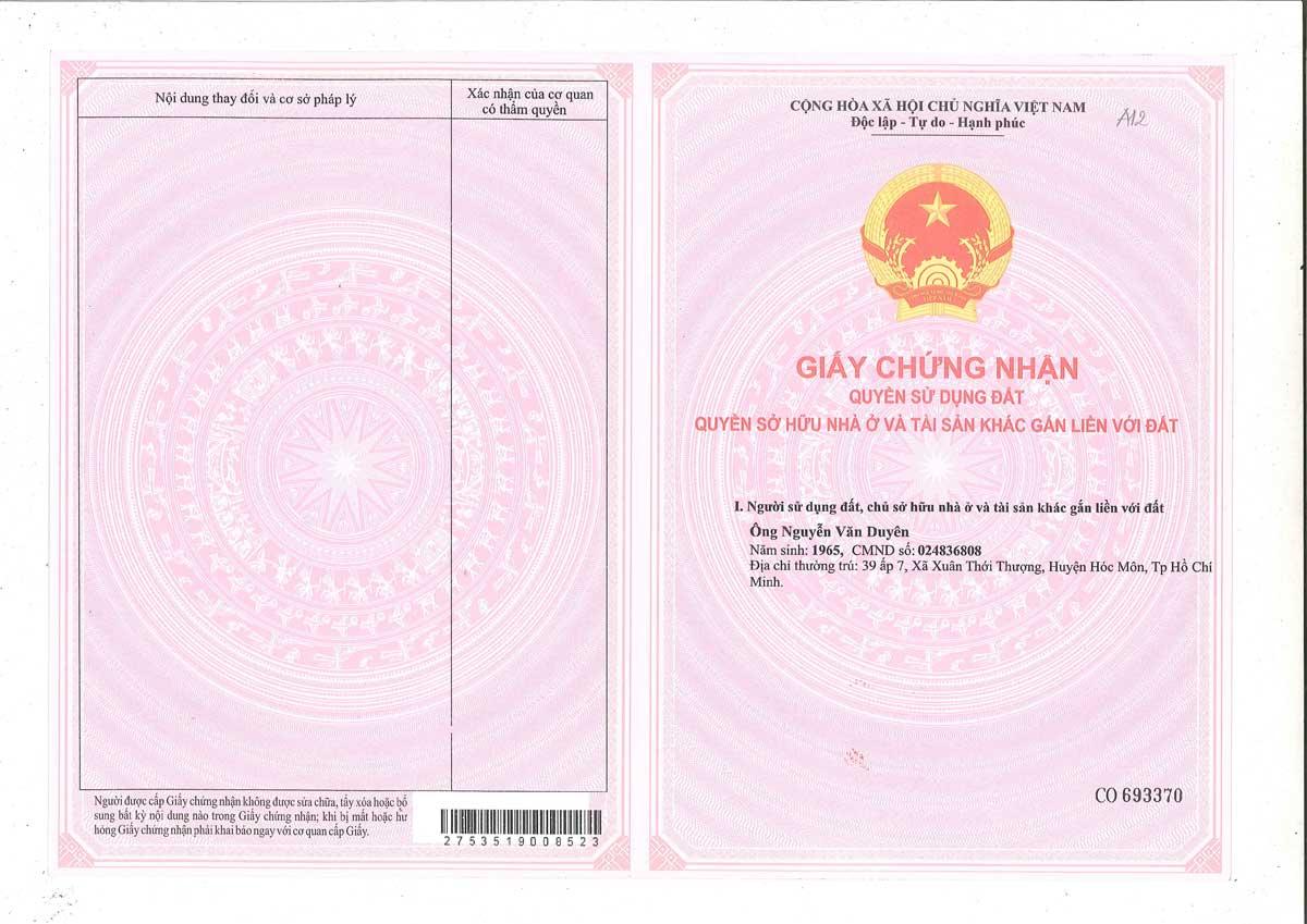So hong lo dat A12 Khu dan cu Thinh Vuong 2 Residence Cu Chi - Khu dân cư Thịnh Vượng 2 Residence Củ Chi