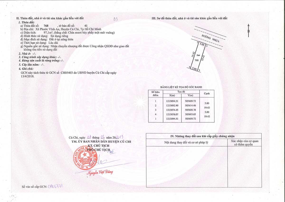 So hong lo dat B03 Khu dan cu Thinh Vuong 2 Residence cu chi - Khu dân cư Thịnh Vượng 2 Residence Củ Chi