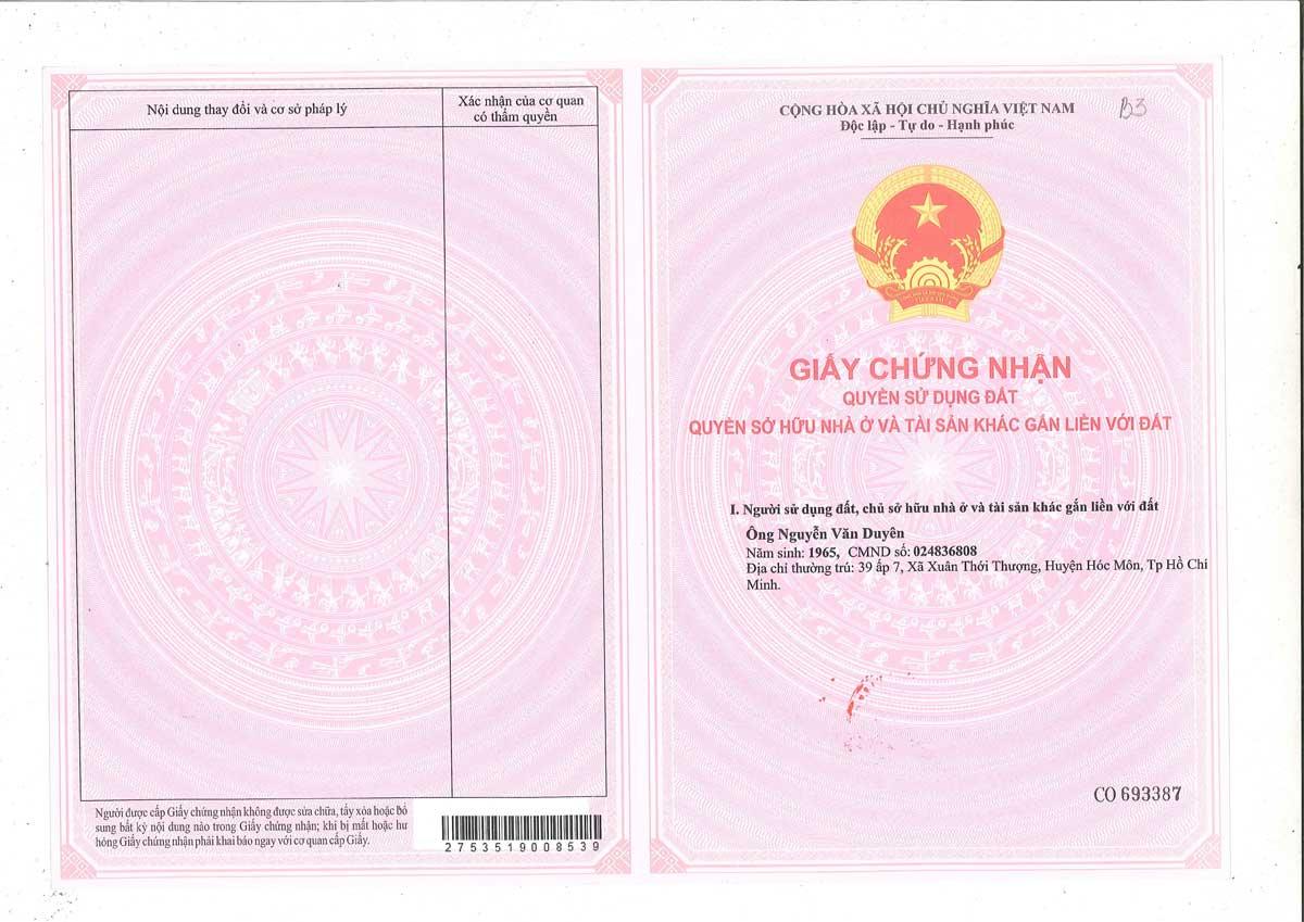 So hong lo dat B03 Khu dan cu Thinh Vuong 2 Residence - Khu dân cư Thịnh Vượng 2 Residence Củ Chi