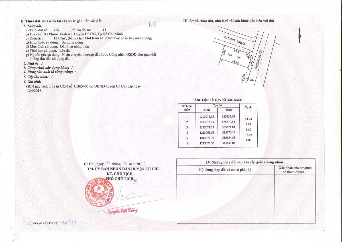 So hong lo dat B15 Khu dan cu Thinh Vuong 2 Residence Cu Chi - Khu dân cư Thịnh Vượng 2 Residence Củ Chi