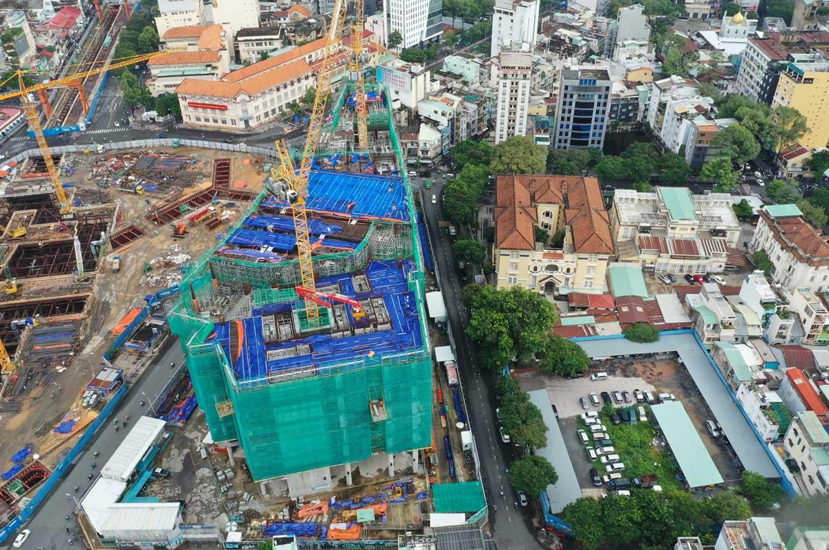 Tien do thi cong Du an can ho One Central Saigon Quan 1 moi nhat 2021 - ONE CENTRAL