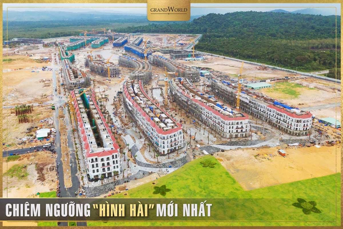 Tien do thi cong thuc te tai Du an Grand World Phu Quoc - GRAND WORLD PHÚ QUỐC