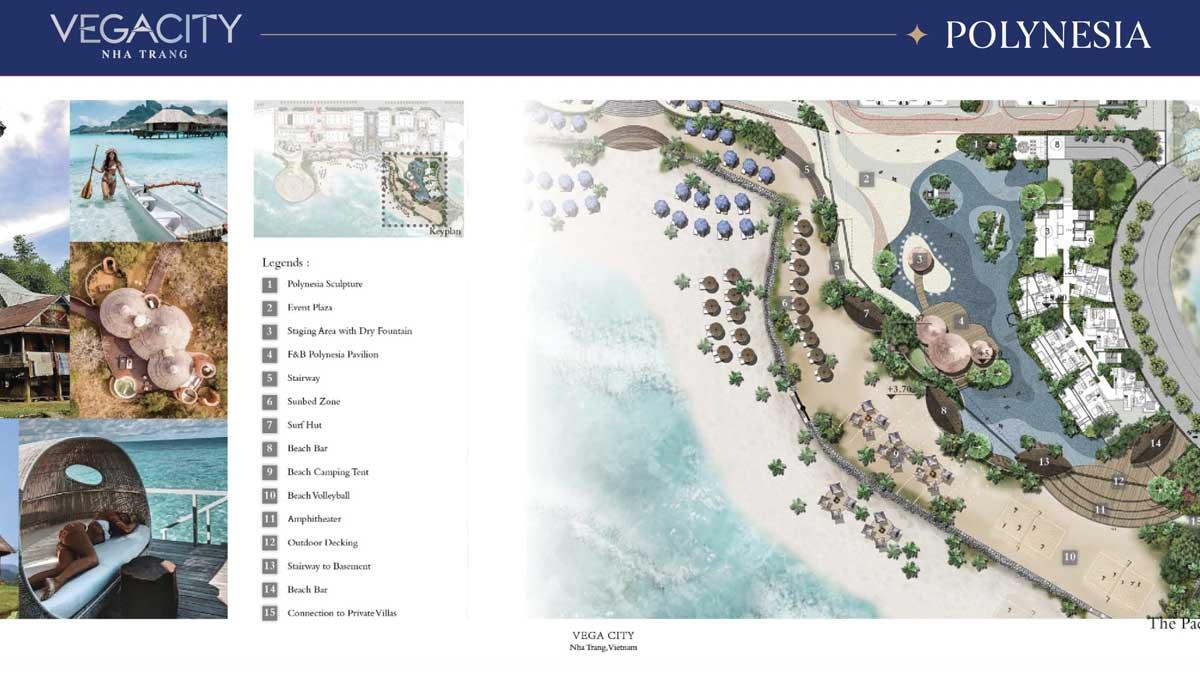 Tien ich noi Khu Polynesia - Vega City Nha Trang