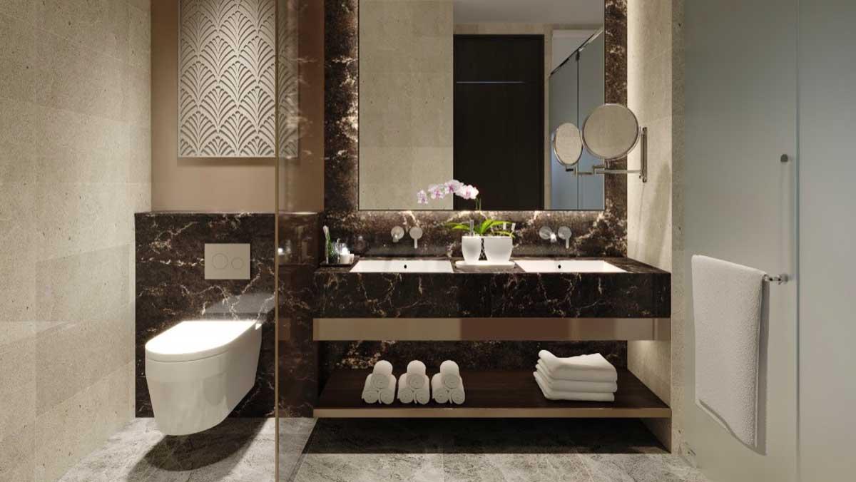 Toilet Can 2 Phong ngu 84 m2 Edna Grand Mercure Phan Thiet - EDNA GRAND MERCURE PHAN THIẾT
