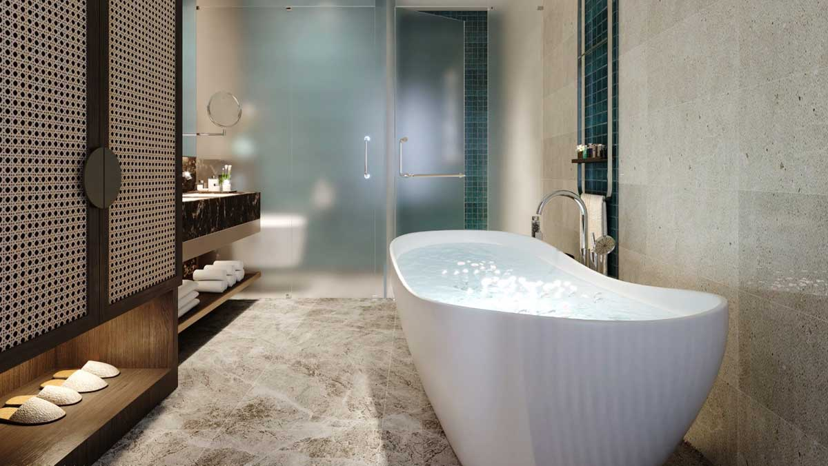 Toilet Can President 2 Phong ngu Edna Grand Mercure 113 m2 - EDNA GRAND MERCURE PHAN THIẾT