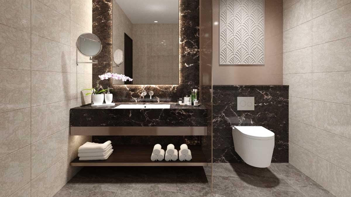 Toilet Can ho 1PN 70m2 Edna Grand Mercure Phan Thiet - EDNA GRAND MERCURE PHAN THIẾT