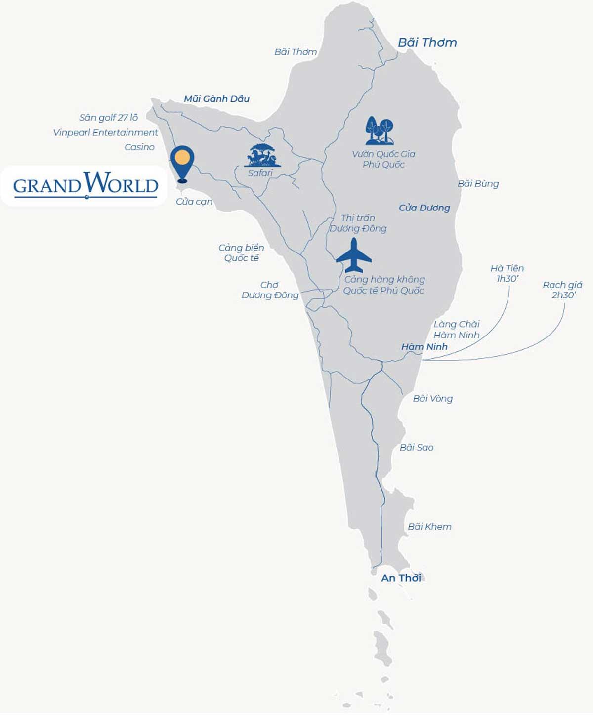 Vi tri Du an Grand World Phu Quoc - GRAND WORLD PHÚ QUỐC
