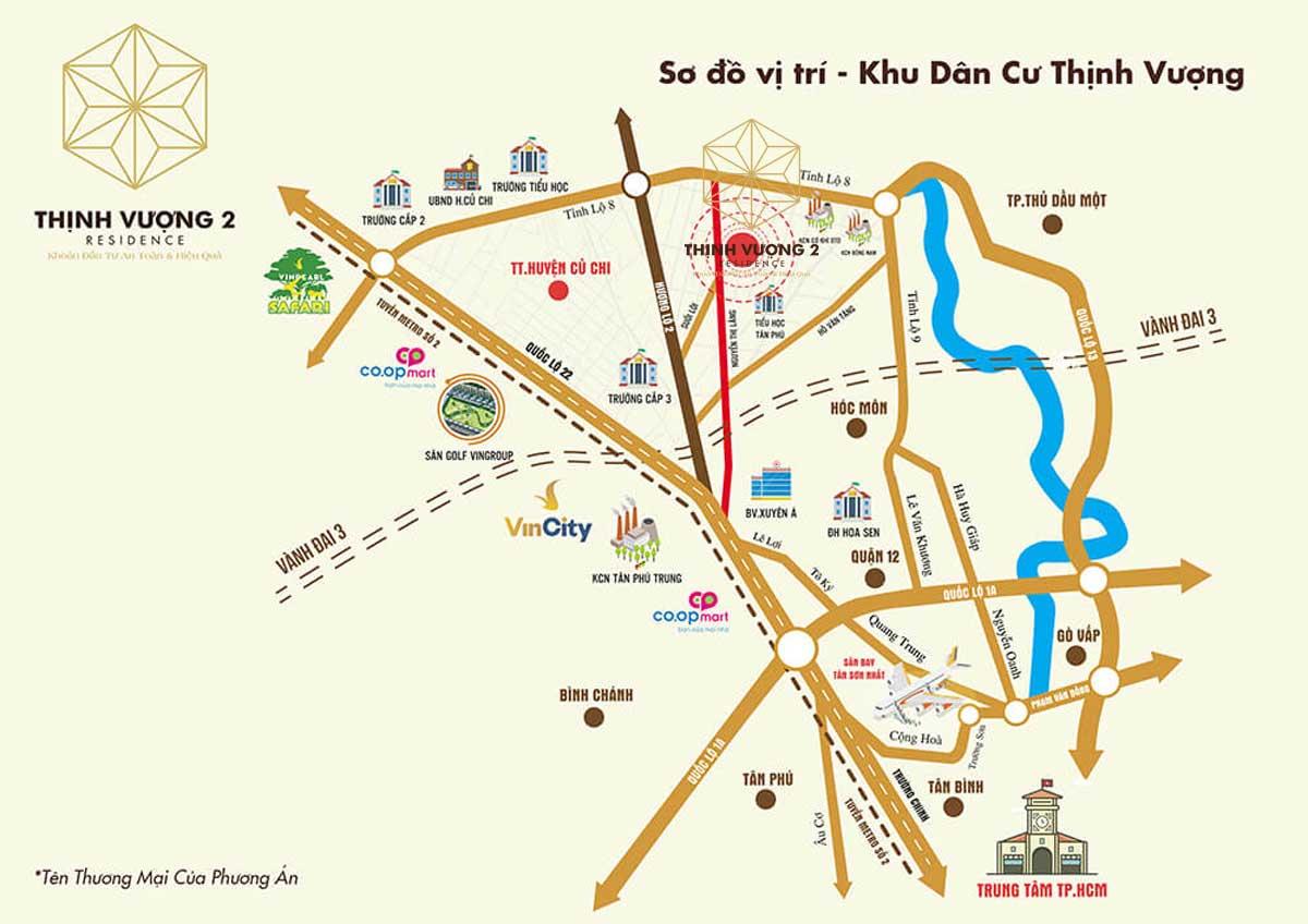 Vi tri Du an Khu dan cu Thinh Vuong 2 Residence - Khu dân cư Thịnh Vượng 2 Residence Củ Chi