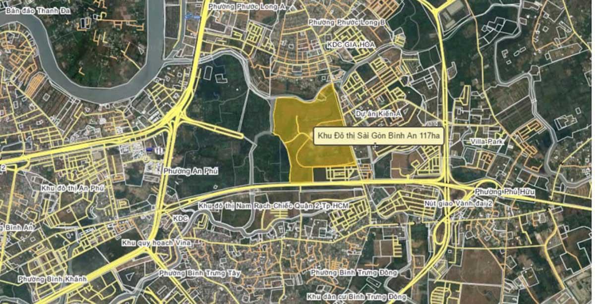 Vi tri Du an Khu do thi Sai Gon Binh An - Khu đô thị Sài Gòn Bình An