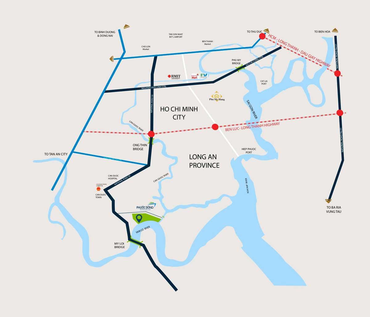 Vi tri KCN Cau cang Phuoc Dong - Vị-trí-KCN-Cầu-cảng-Phước-Đông