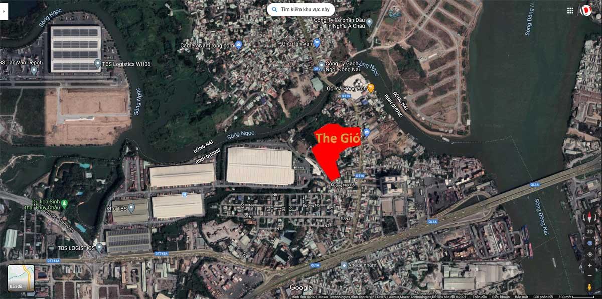 Vi tri khu Du an Can ho The Gio Di An Binh Duong - The Gió Riverside