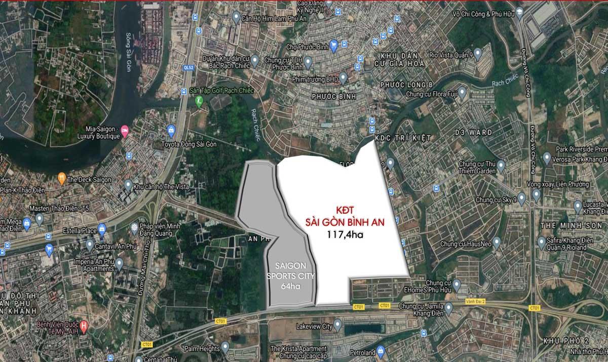 Vi tri thuc te Du an Khu do thi Sai Gon Binh An 2021 - Khu đô thị Sài Gòn Bình An