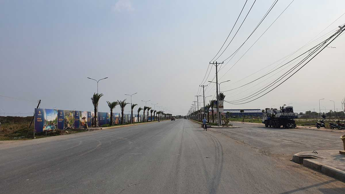 cap nhat tien do thi cong du an the sol city long an thang 3 nam 2021 - The Sol City