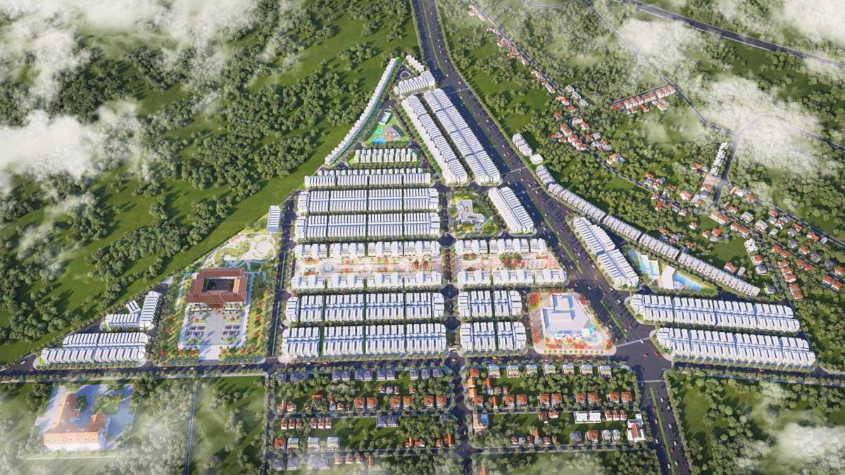 Phối cảnh Dự án Diamond City Lộc Ninh Bình Phước