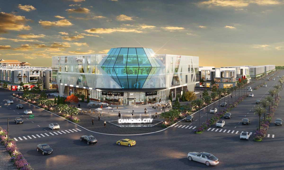 khu trung tam thuong mai du an diamond city loc ninh - DIAMOND CITY LỘC NINH BÌNH PHƯỚC