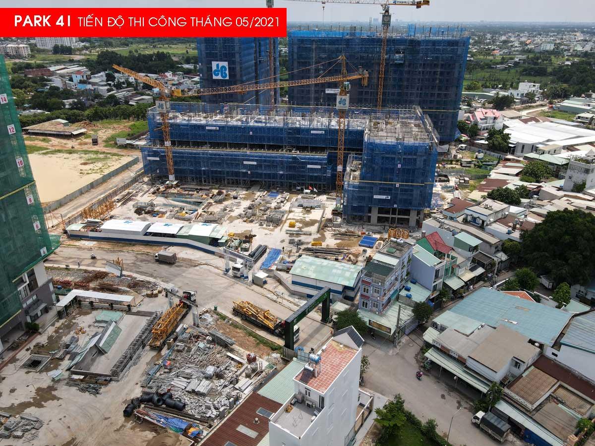 tien do thi cong park 4 picity cuoi thang 5 nam 2021 - Cập nhật Tiến độ thi công Dự án Picity High Park