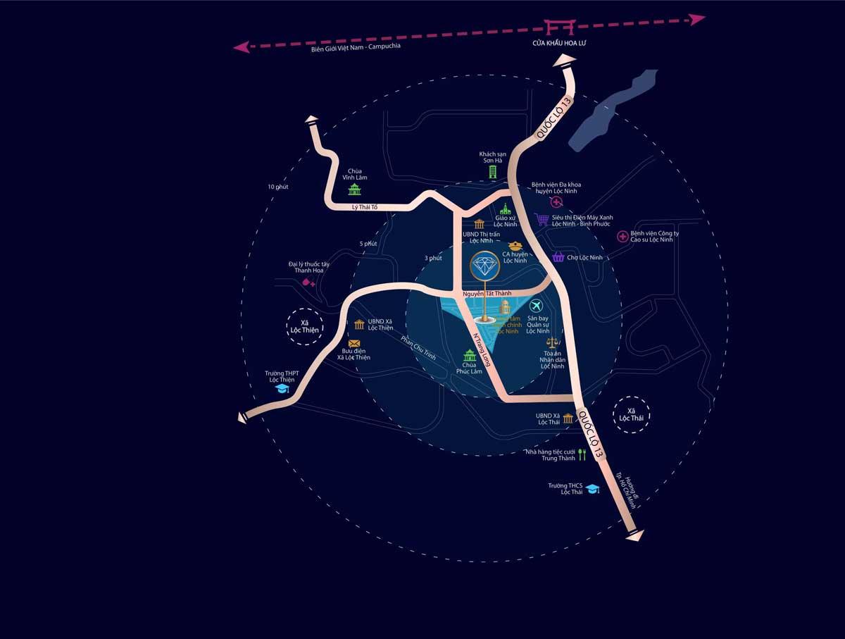 vi tri du an diamond city loc ninh binh phuoc - DIAMOND CITY LỘC NINH BÌNH PHƯỚC