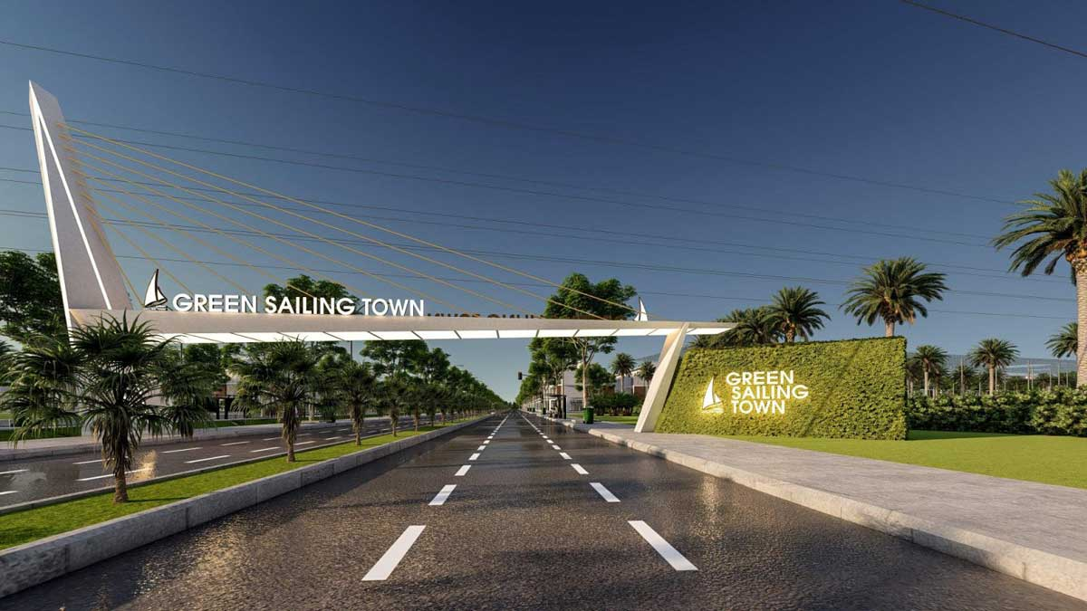 Cong Du an Green Sailing Town - Cổng-Dự-án-Green-Sailing-Town