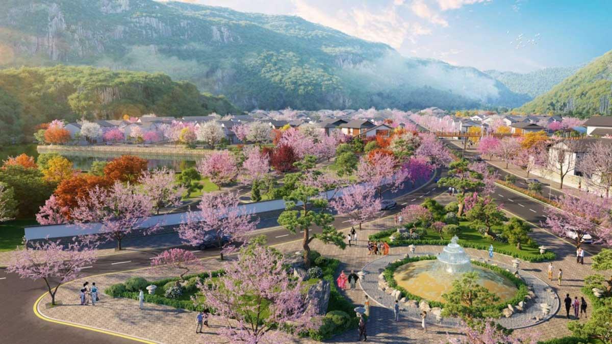 Khu cong vien Hoa anh Dao Sun Grand Boulevard - Khu-công-viên-Hoa-anh-Đào-Sun-Grand-Boulevard
