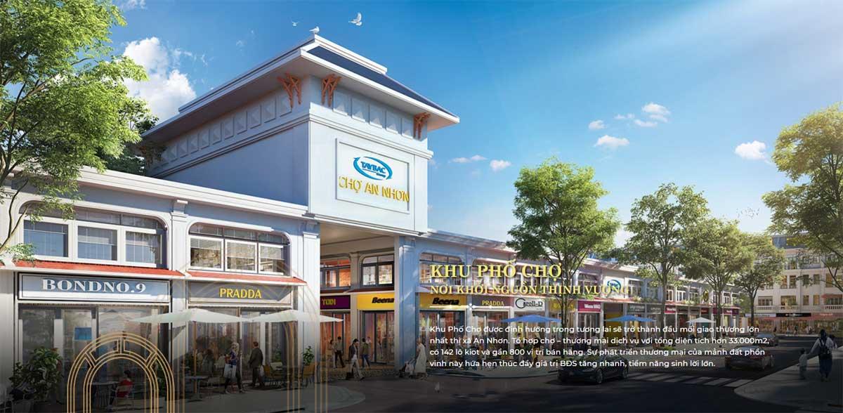 Khu pho cho Hung Dinh City - Hưng Định City