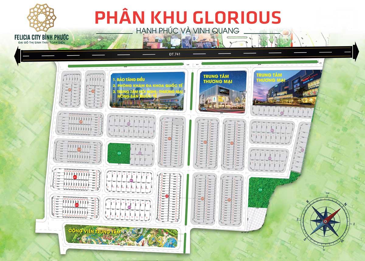 Mat bang phan khu Glorious Du an Felicia City Binh Phuoc - FELICIA CITY BÌNH PHƯỚC