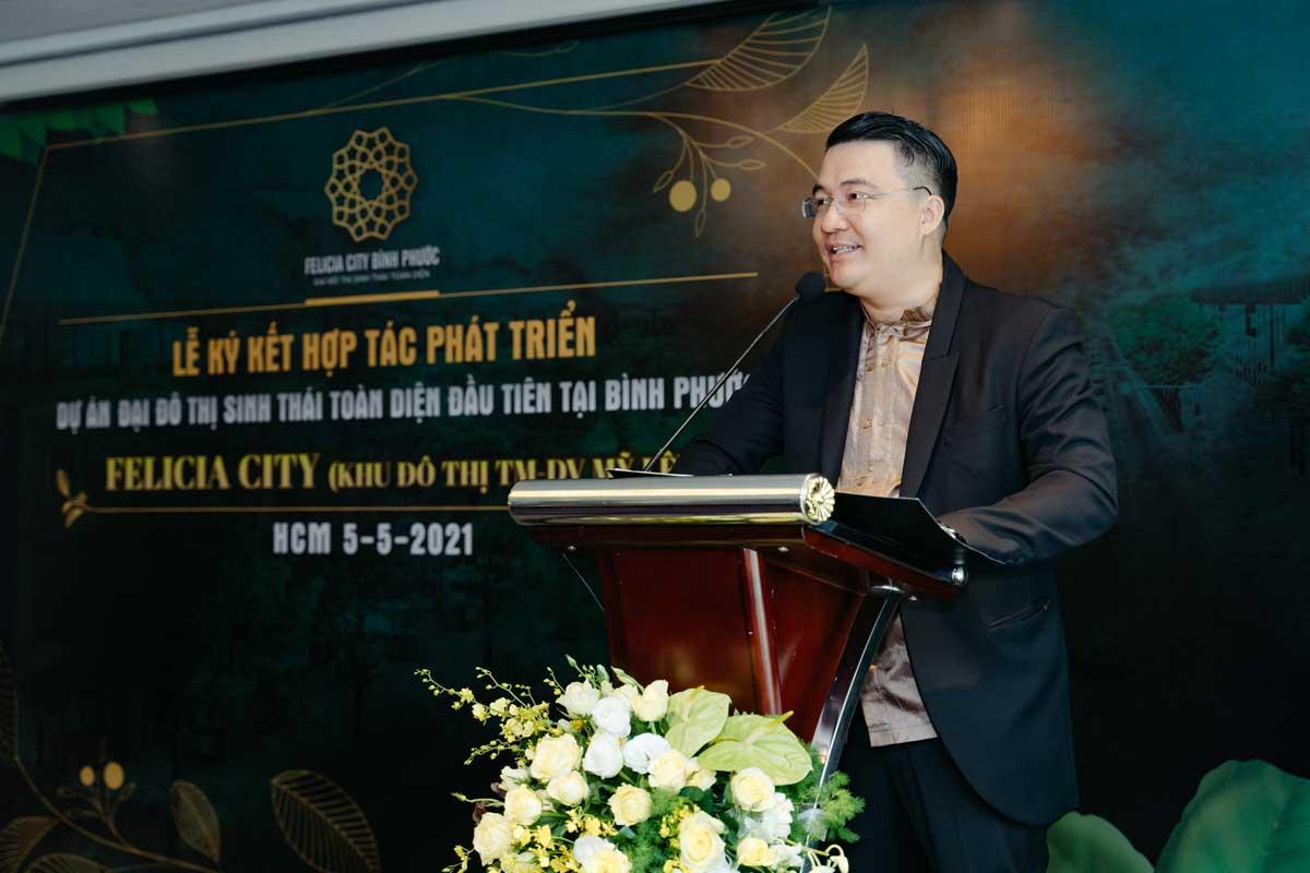 Ong Nguyen Van Thong Chu tich Tong giam doc Thien An Holdings don vi phat trien phan phoi du an phat bieu - FELICIA CITY BÌNH PHƯỚC