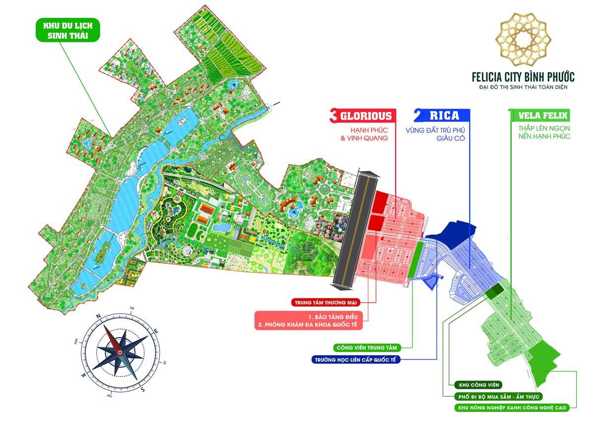 So do phan lo Du an Khu do thi Felicia City Binh Phuoc - FELICIA CITY BÌNH PHƯỚC