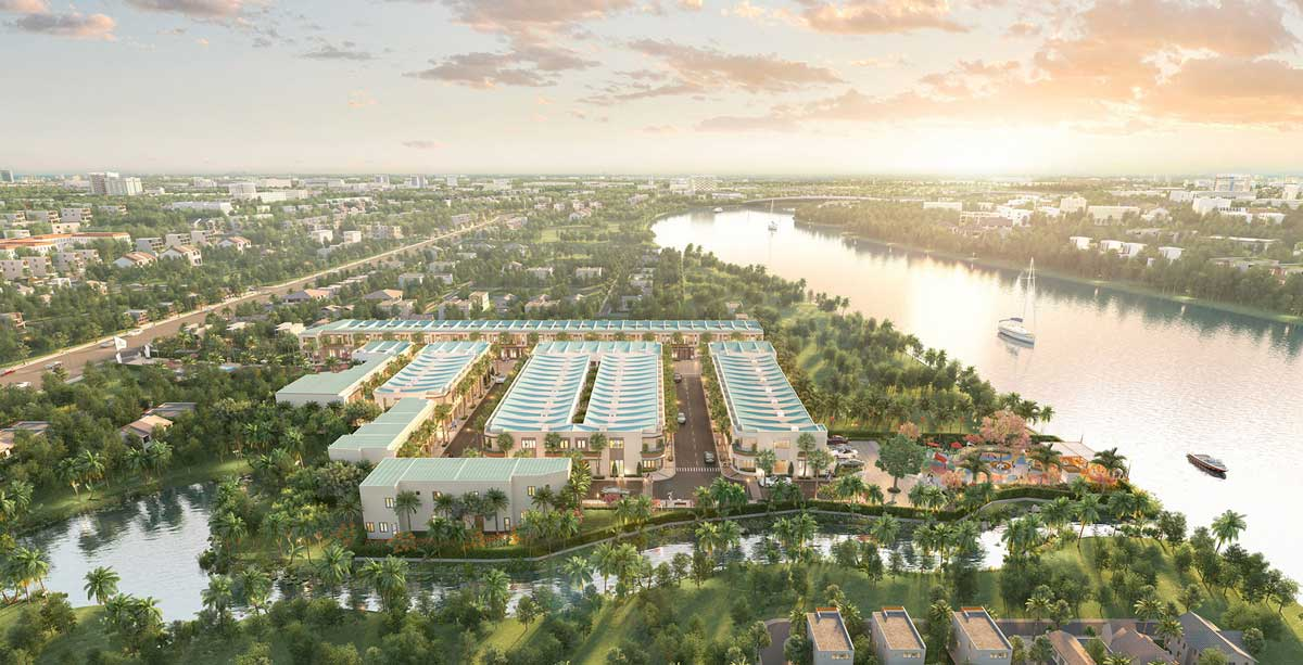 Phối cảnh Dự án Taka Garden Riverside Long An
