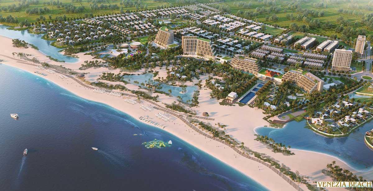 Tien ich bo bien dai 2km tai Du an Venezia Beach Binh Thuan - VENEZIA BEACH VILLAGE BÌNH THUẬN