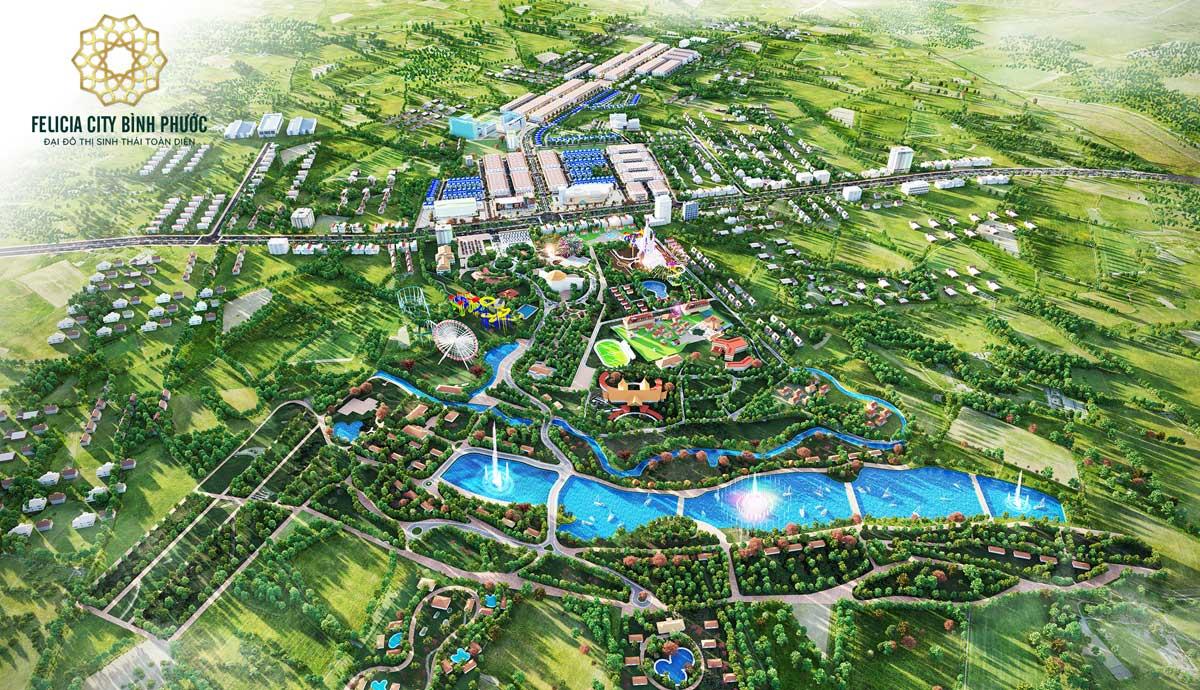 Tong quan Felicia City Binh Phuoc View du lich sinh thai - FELICIA CITY BÌNH PHƯỚC