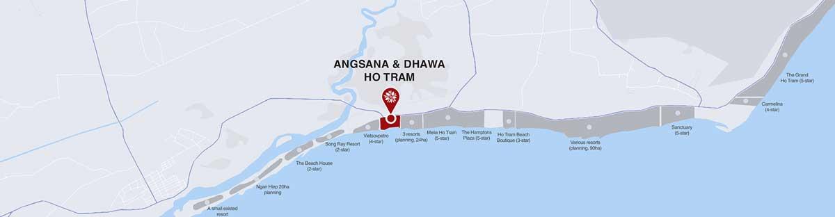Vi tri Du an Angsana Residences Ho Tram - Vị-trí-Dự-án-Angsana-Residences-Hồ-Tràm