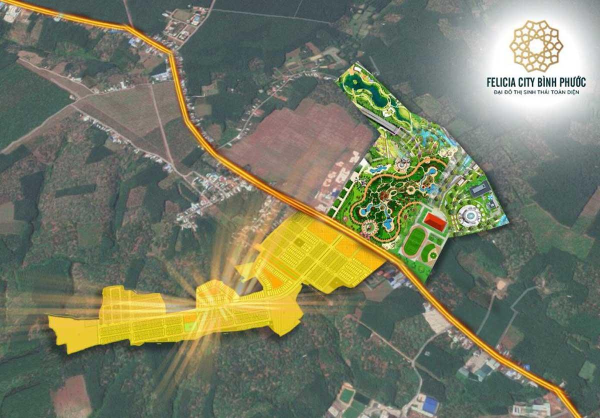 Vi tri Du an Felicia City Binh Phuoc 1 - Vị-trí-Dự-án-Felicia-City-Bình-Phước
