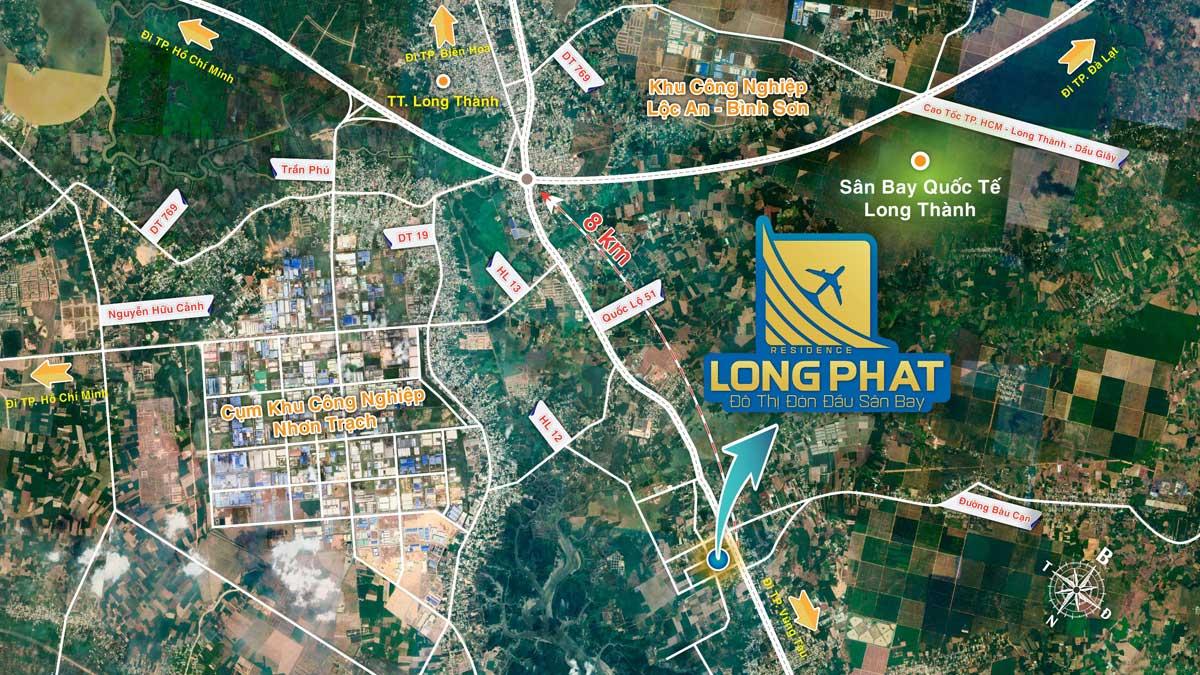 Vi tri Du an Long Phat Residence tren Google Maps - LONG PHÁT RESIDENCE