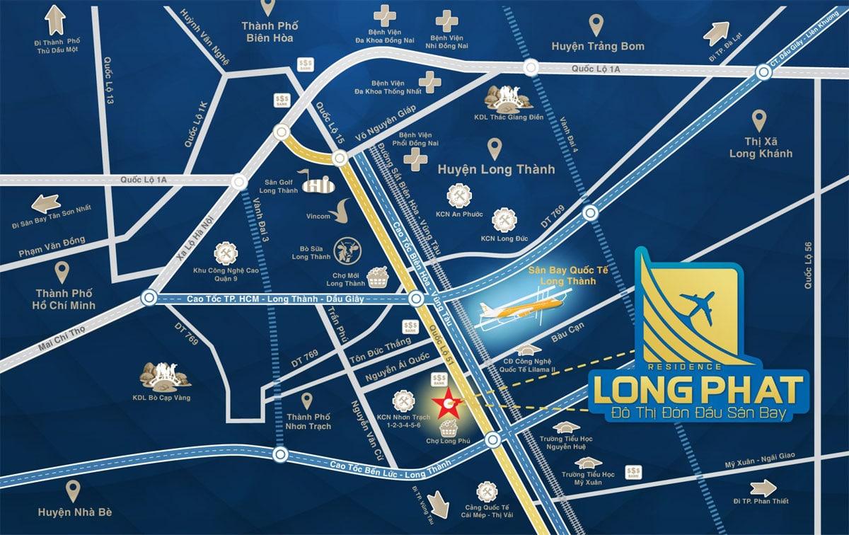 Vi tri Du an Long Phat Residence - LONG PHÁT RESIDENCE