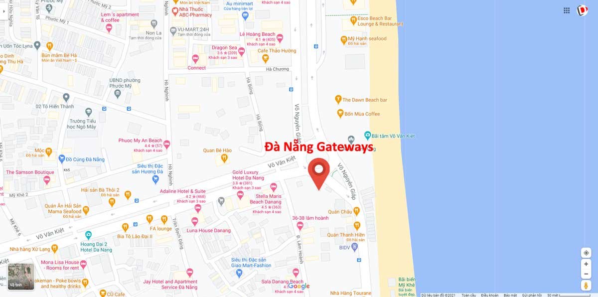 Vi tri Du an Thap tai chinh Da Nang Gateways - Đà Nẵng Gateways