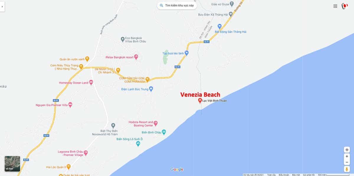 Vi tri Du an Venezia Beach Binh Thuan - VENEZIA BEACH VILLAGE BÌNH THUẬN