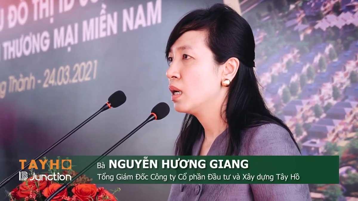 Ba Nguyen Huong Giang Tong Giam Doc Cong ty Co phan Dau tu va Xay dung Tay Ho phat bieu tai Le Khoi cong Du an khu do thi ID Junction Long Thanh - Ba-Nguyen-Huong-Giang-Tong-Giam-Doc-Cong-ty-Co-phan-Dau-tu-va-Xay-dung-Tay-Ho-phat-bieu-tai-Le-Khoi-cong-Du-an-khu-do-thi-ID-Junction-Long-Thanh