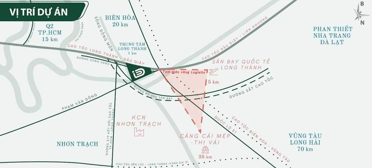 Ban do Vi tri Du an ID Junction Long Thanh - Bản đồ Vị trí Dự án ID Junction Long Thành