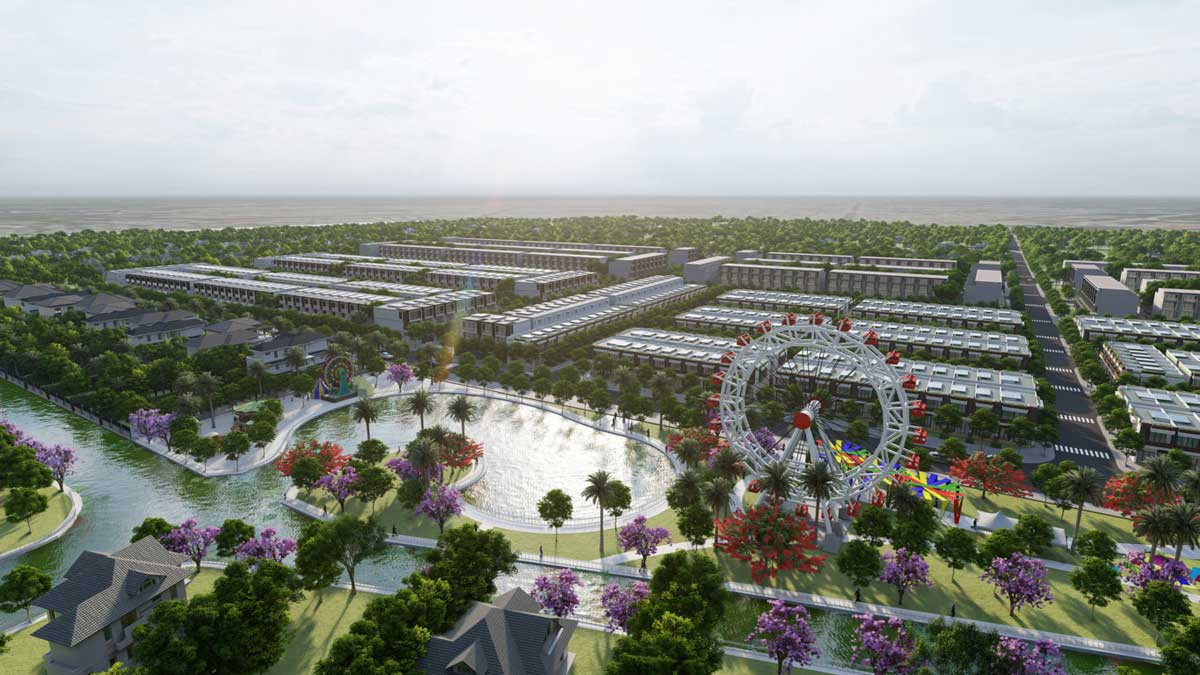 Cong vien noi khu Du an Con Khuong Diamond City - Cồn Khương Diamond City