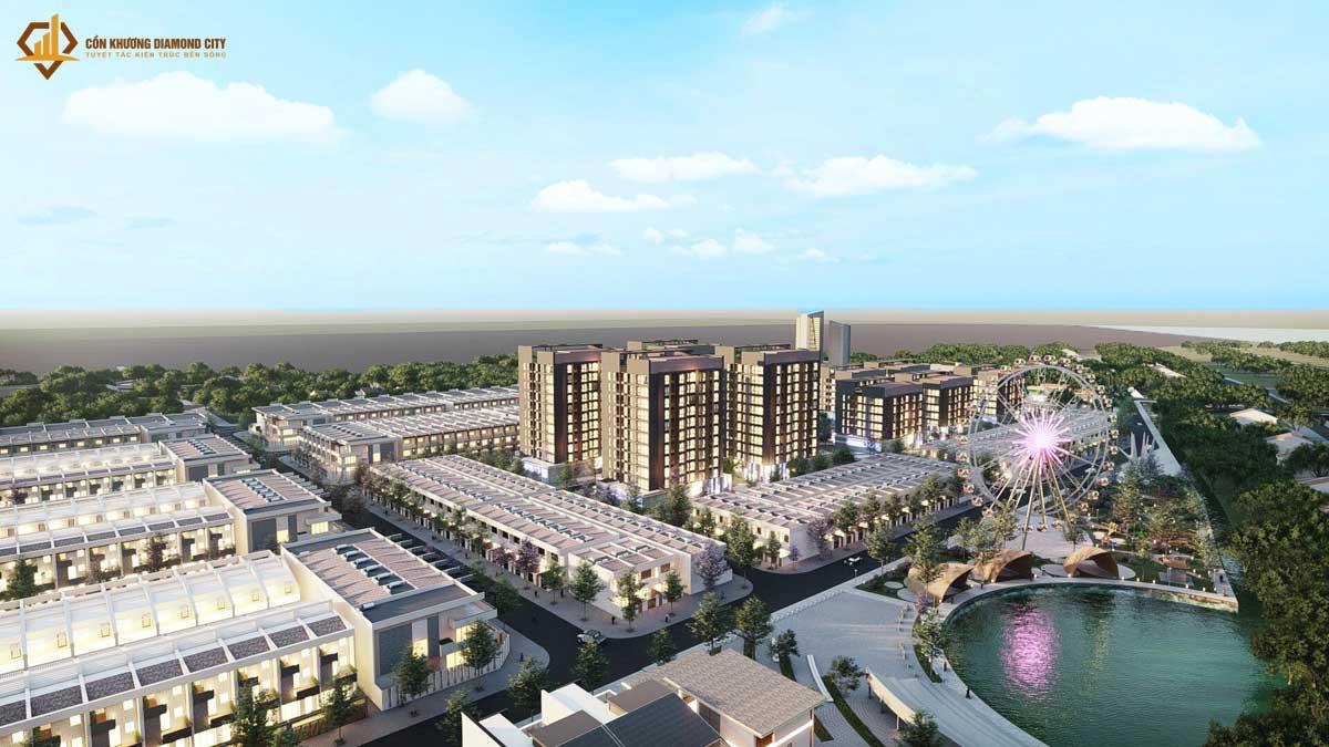 Khu can ho Con Khuong Diamond City 2021 - Cồn Khương Diamond City