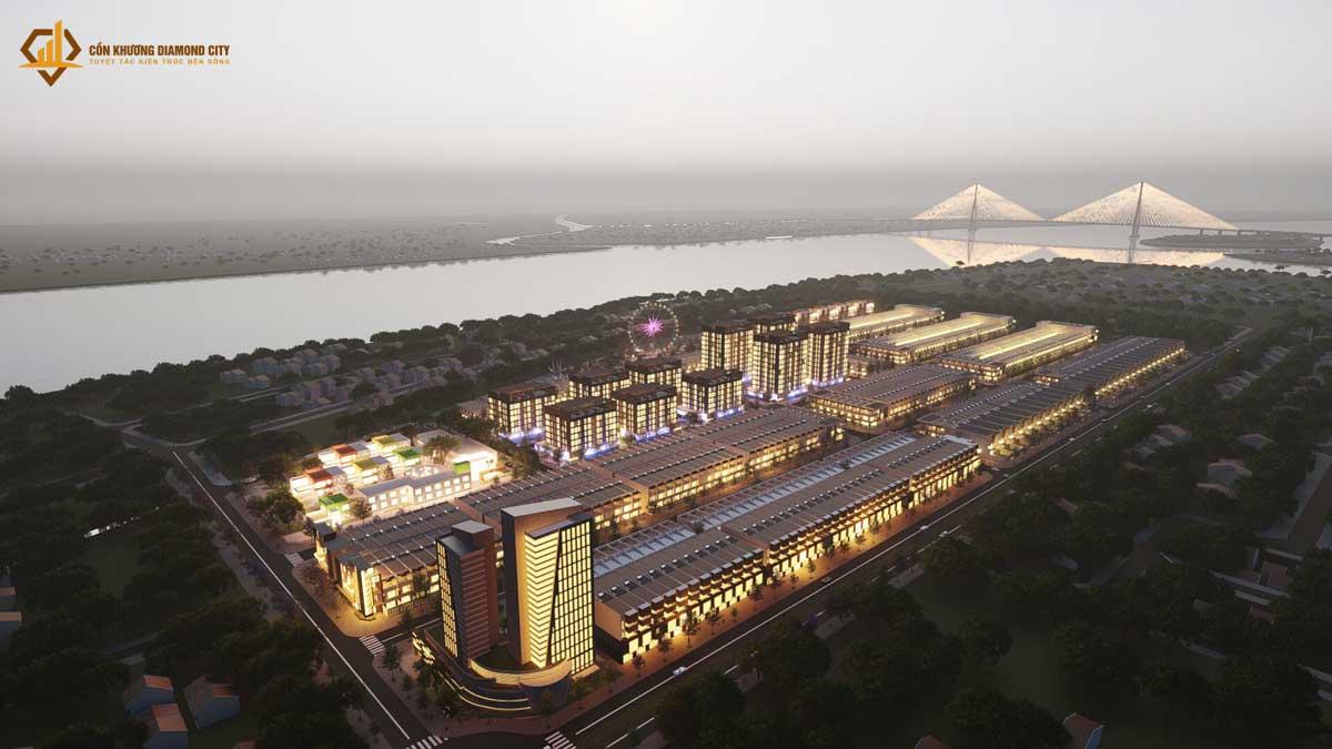 Phoi canh Du an Con Khuong Diamond City 2021 - Cồn Khương Diamond City