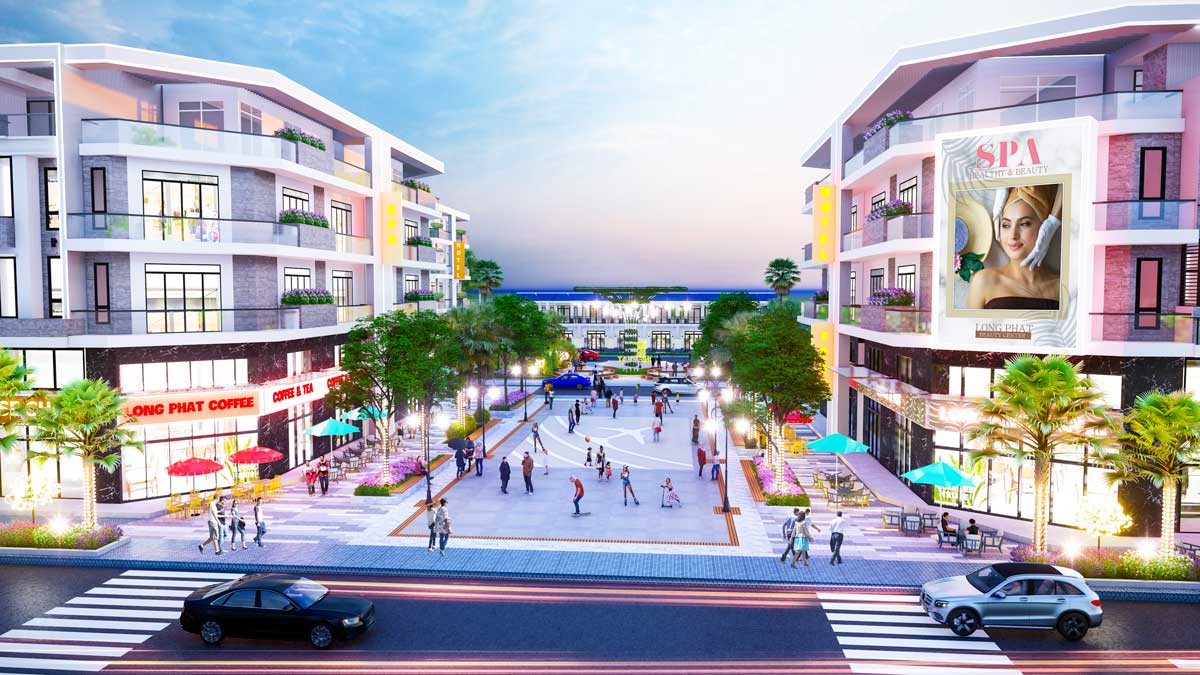 Quang truong Sky View Du an Long Phat Residence - LONG PHÁT RESIDENCE