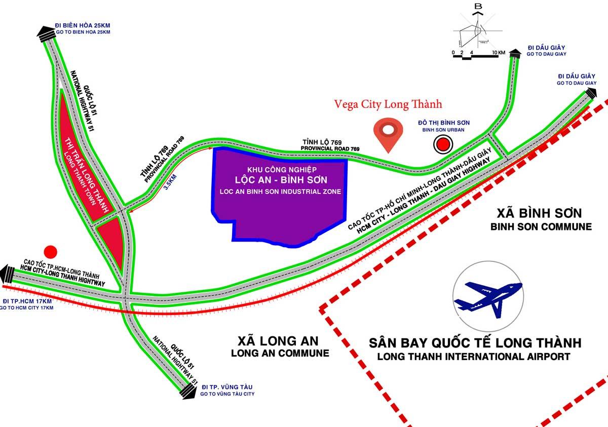 Vi tri Du an Vega City Long Thanh - VEGA CITY LONG THÀNH