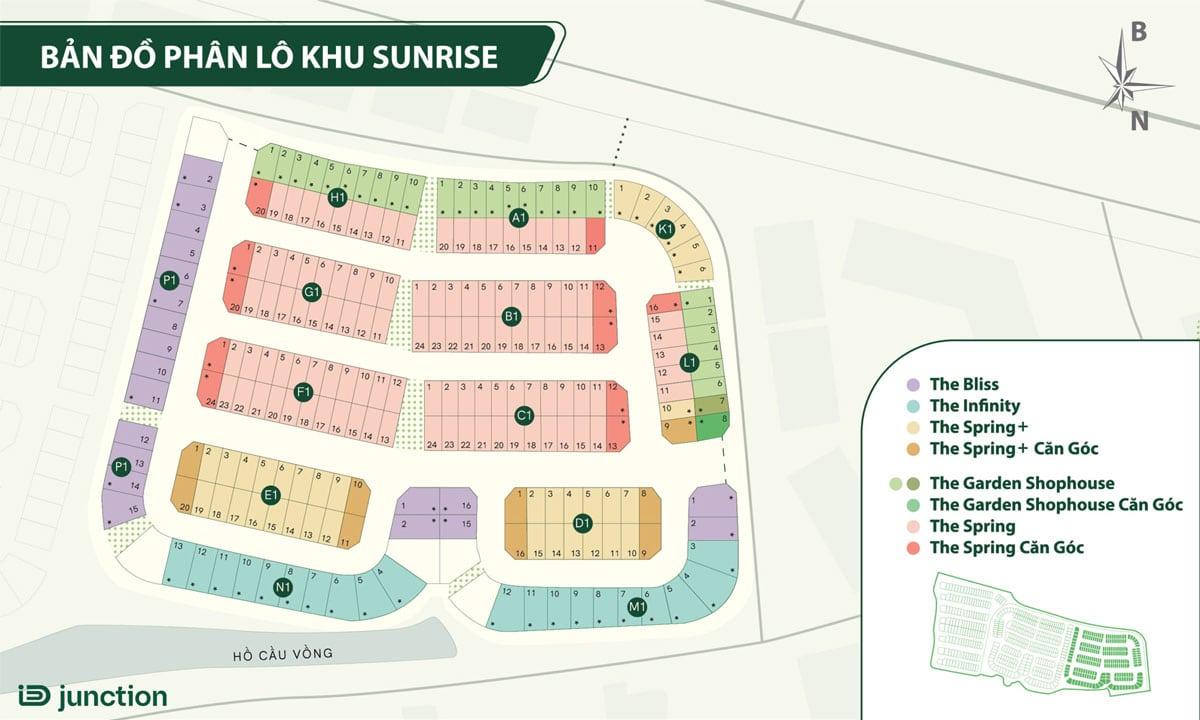 ban do phan lo khu Sunrise Villas ID Junction Long Thanh - ban-do-phan-lo-khu-Sunrise-Villas-ID-Junction-Long-Thành