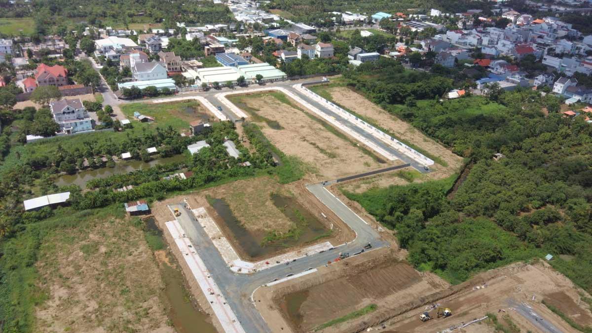 Flycam tien do thi cong du an con khuong diamond city can tho thang 6 nam 2021 - Cồn Khương Diamond City